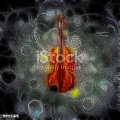 istock Violin Design 502809424
