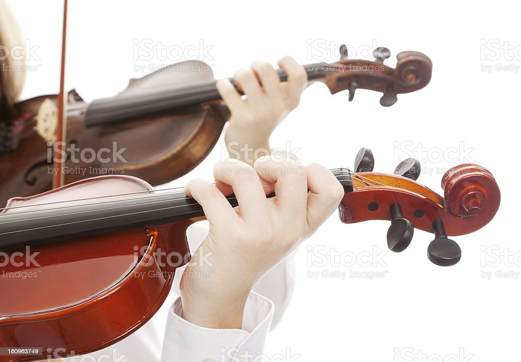 Violin duet stock photo