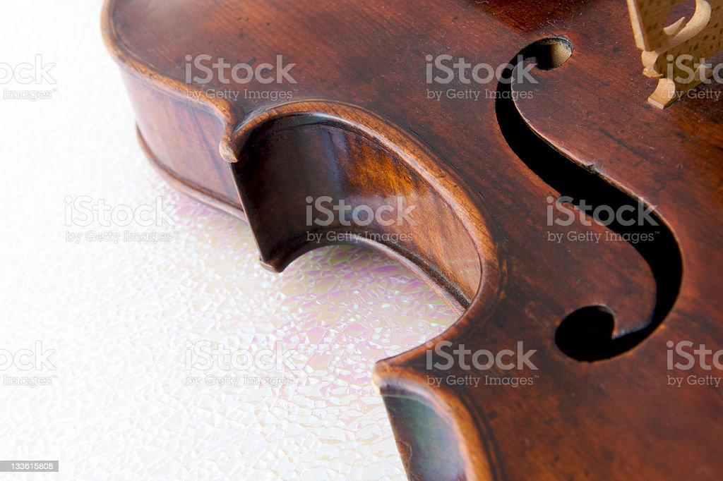 Violin F-hole stock photo