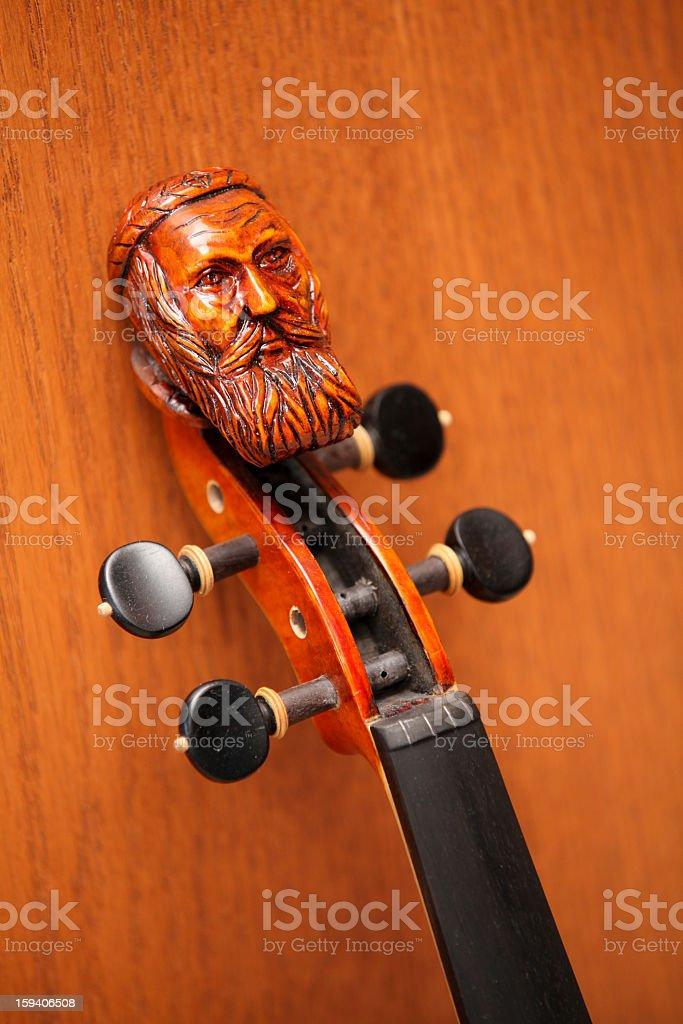 Violin Head royalty-free stock photo