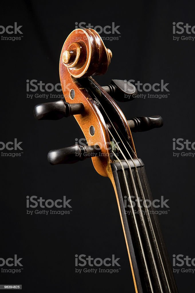 Violin head royalty-free stock photo