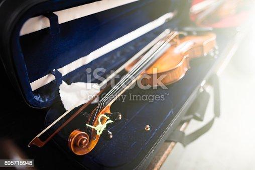 Violin in a open Case