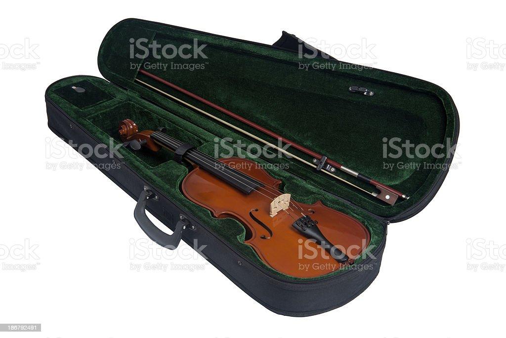 Violin in Case stock photo