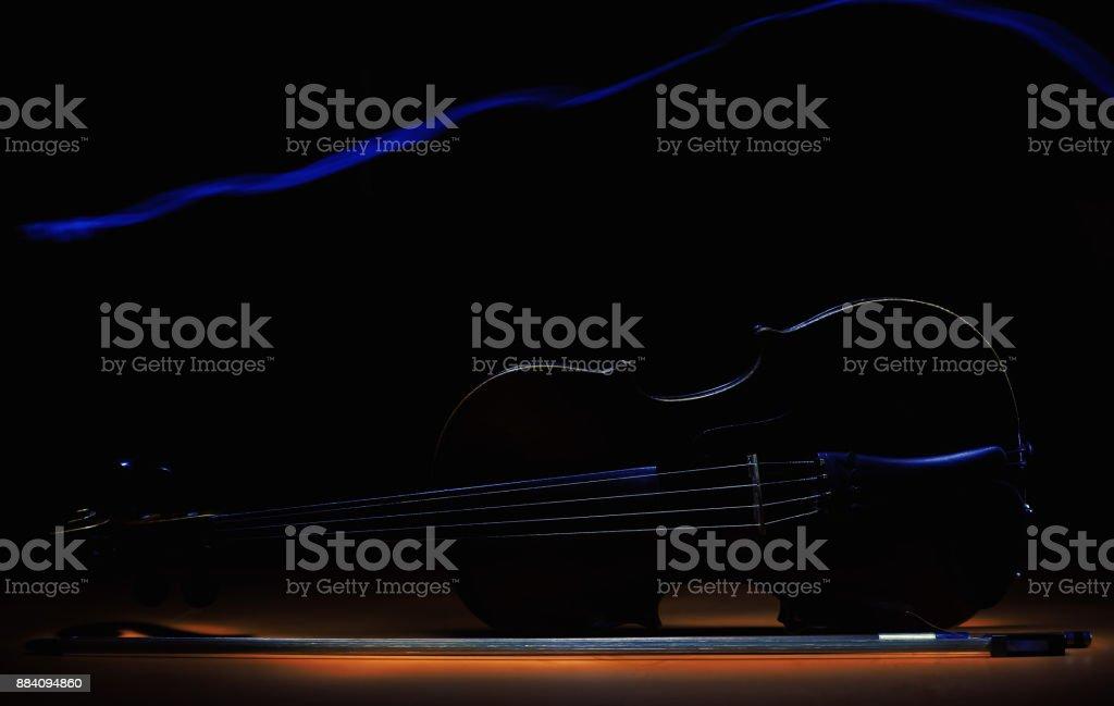 Violin in Dark stock photo