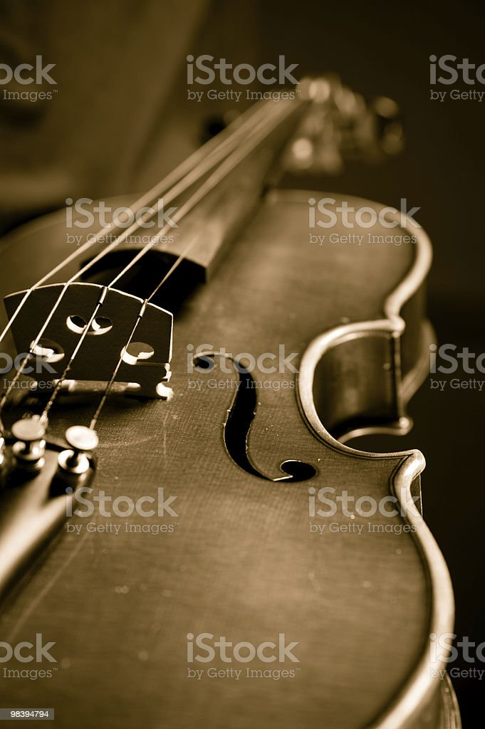 Violin in sepia royalty-free stock photo