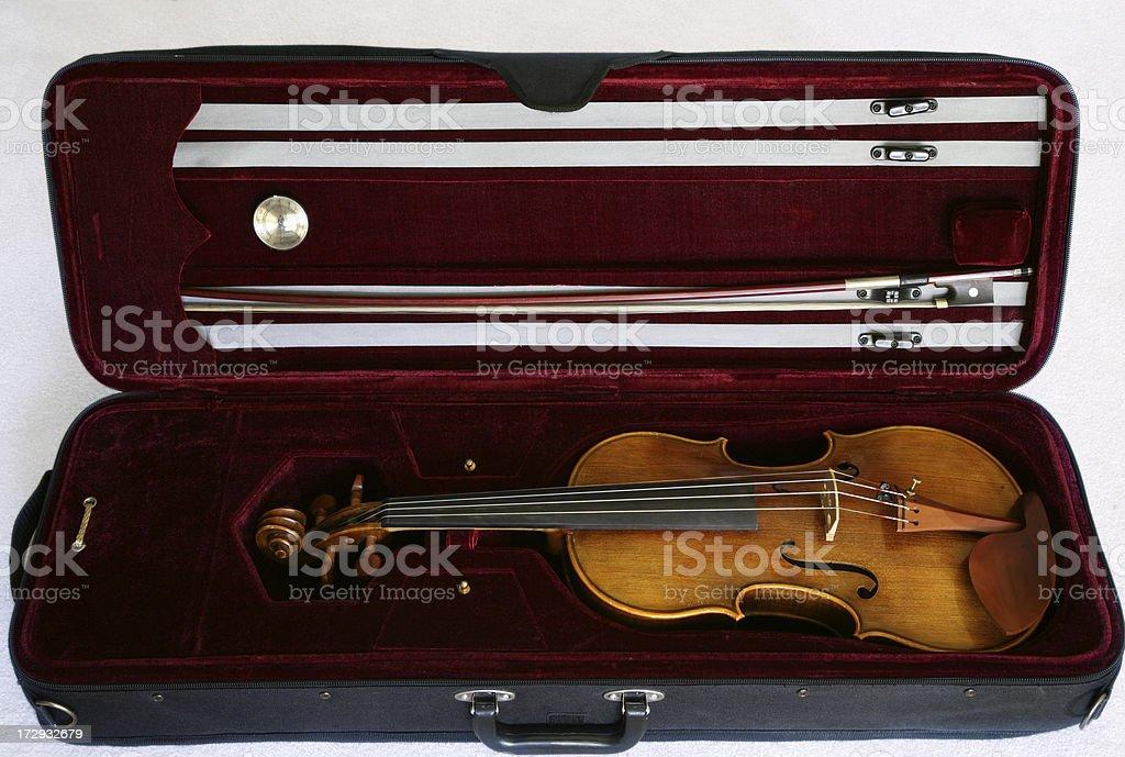 Violin in the Case stock photo
