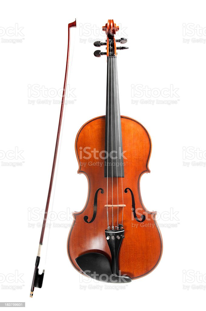 Violin, isolated on white stock photo