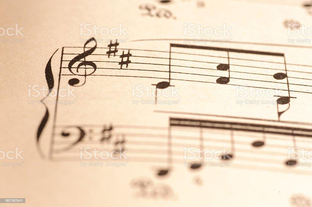 Violin Key Close up stock photo