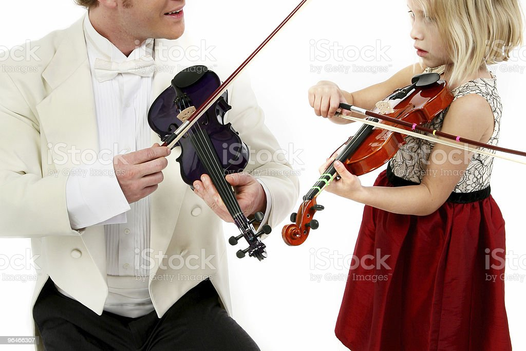 Violin Lesson royalty-free stock photo
