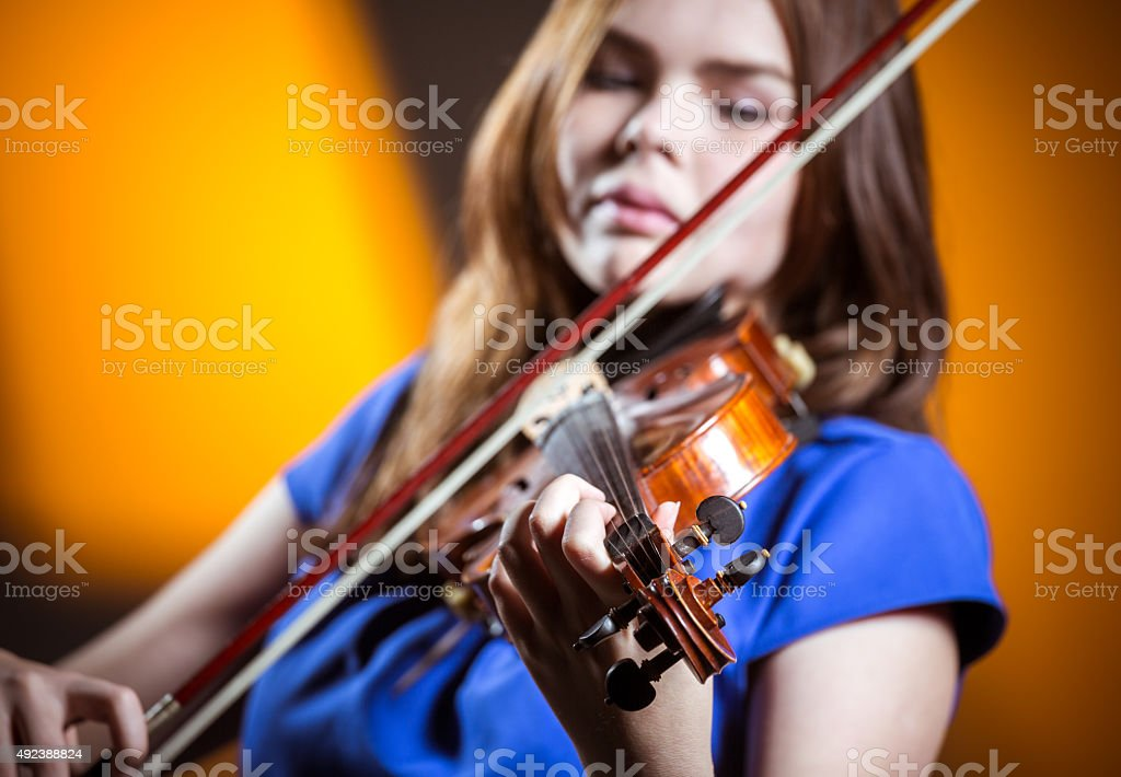 Violin Lessons stock photo