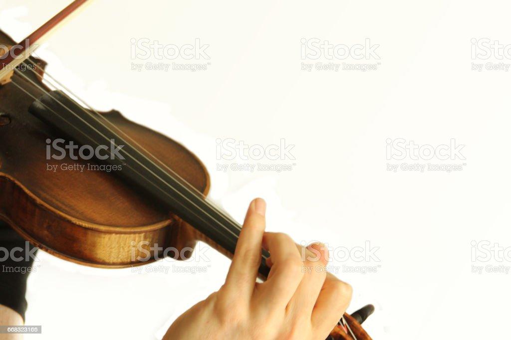 Violin musical instrument stock photo