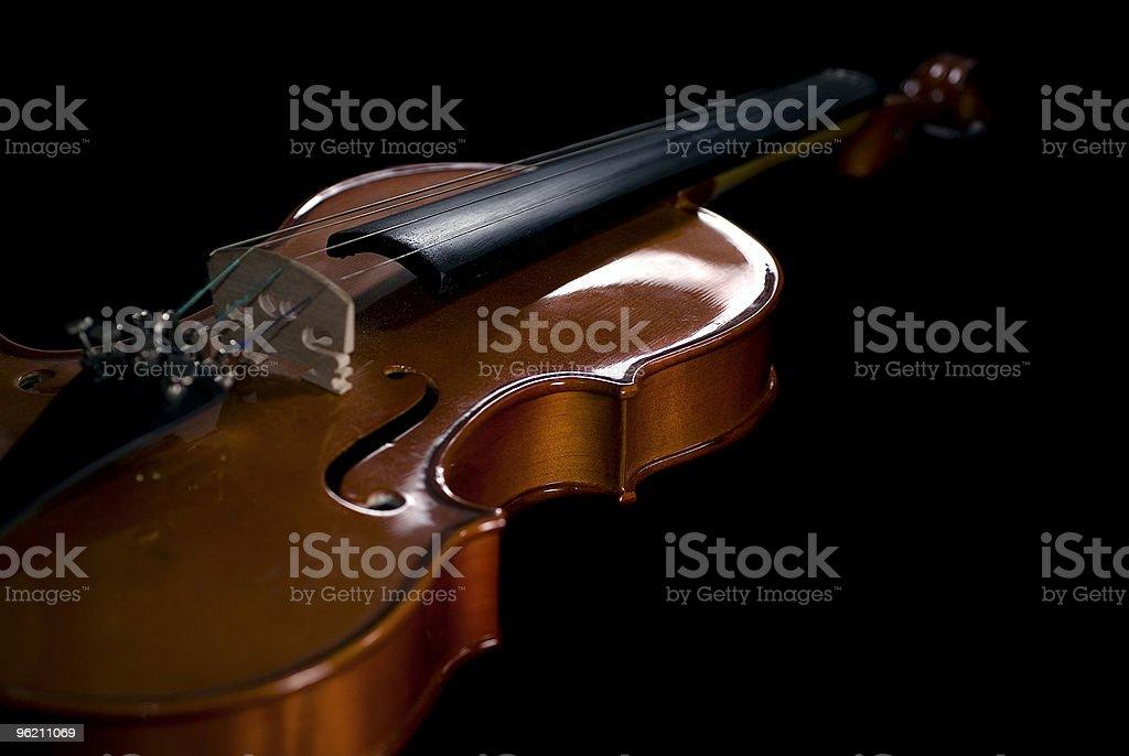 Violin on Black royalty-free stock photo