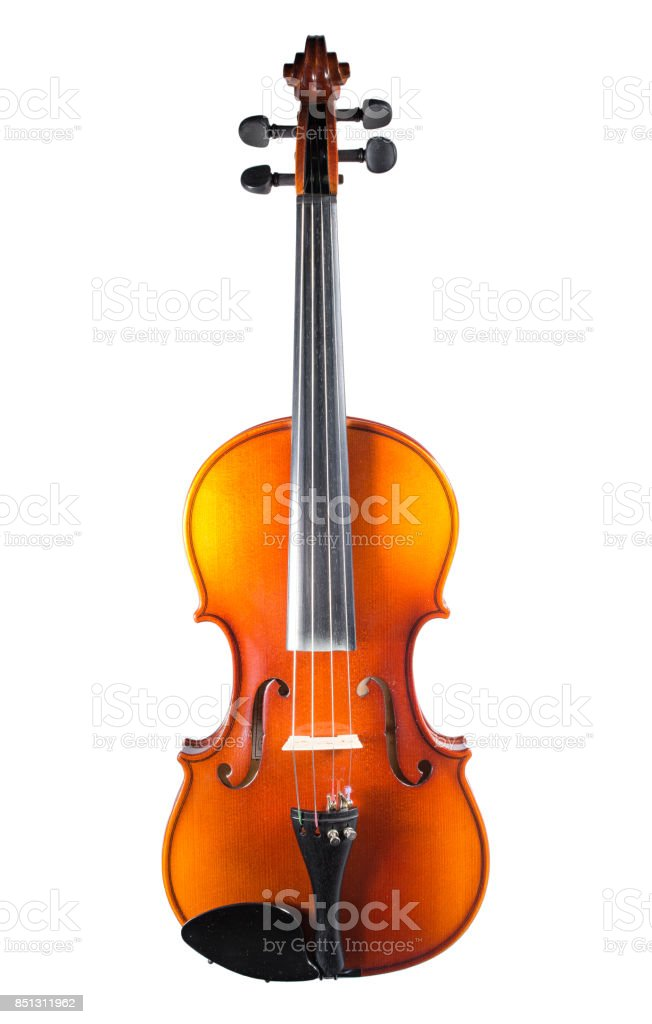 Violin on isolated background stock photo