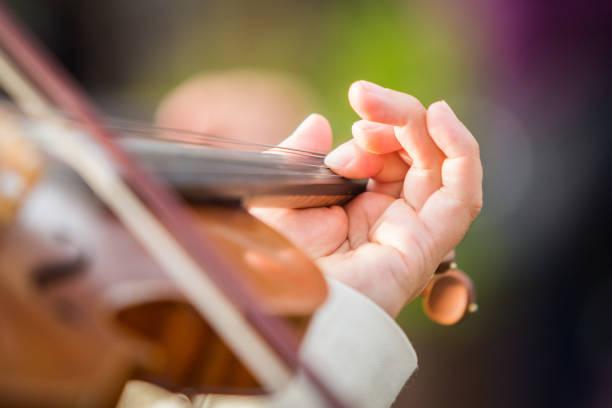 Violin performance stock photo