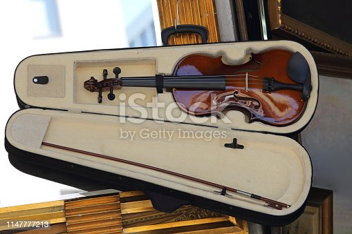 Small Violin and Fiddle in Open Case