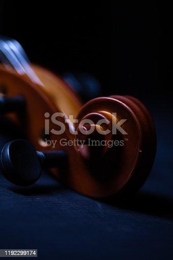 violin of close-up shot