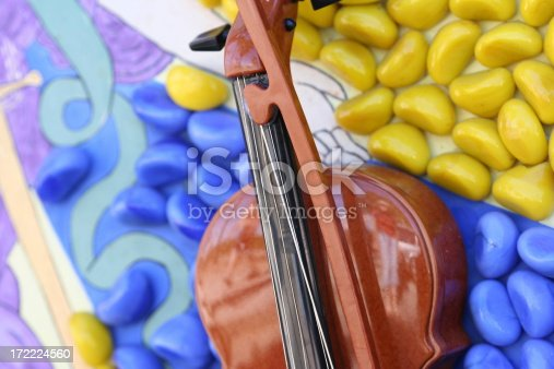 abstract composition with violin