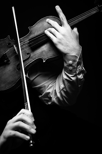 Close up shoot of violin player  My other photo and video files on music and dance theme