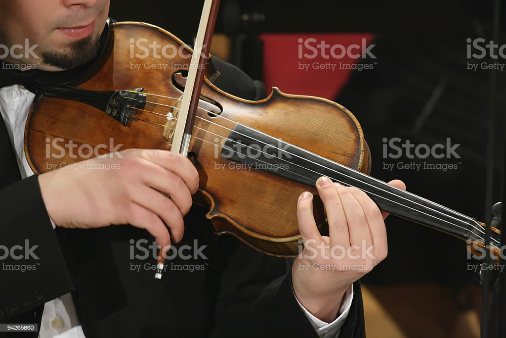 Violin player royalty-free stock photo