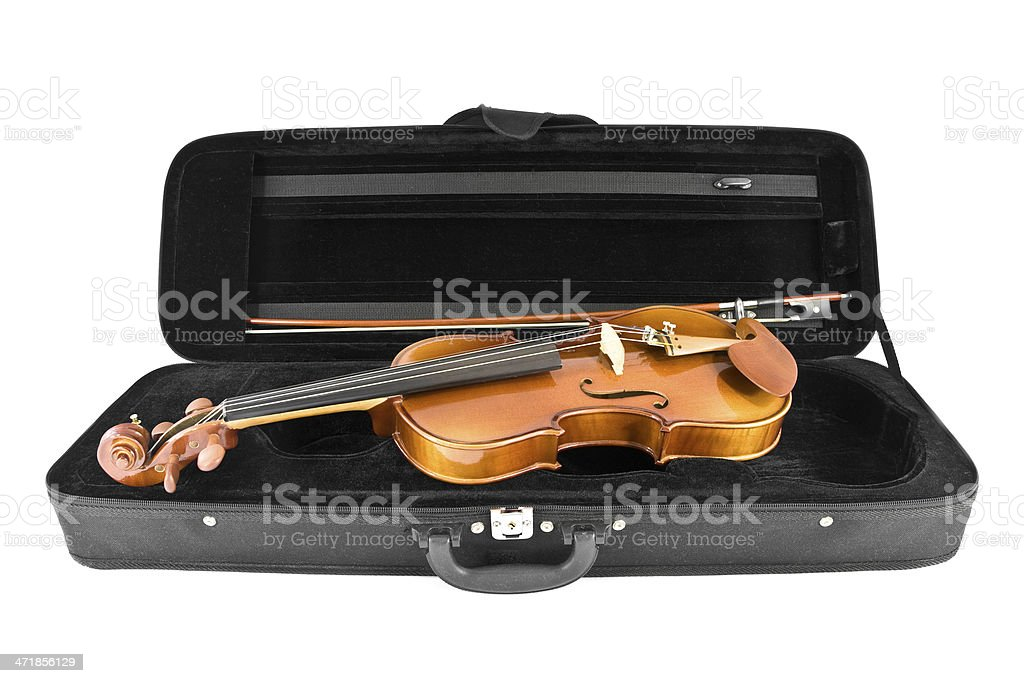 Violin ready to play stock photo