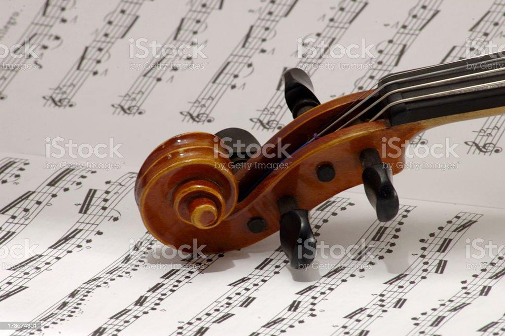 Violin scroll royalty-free stock photo
