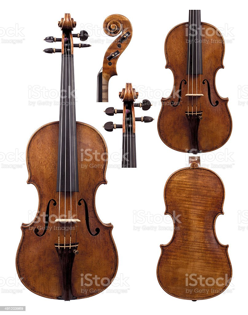 Violin Set stock photo