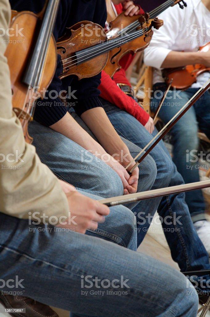 violin students royalty-free stock photo