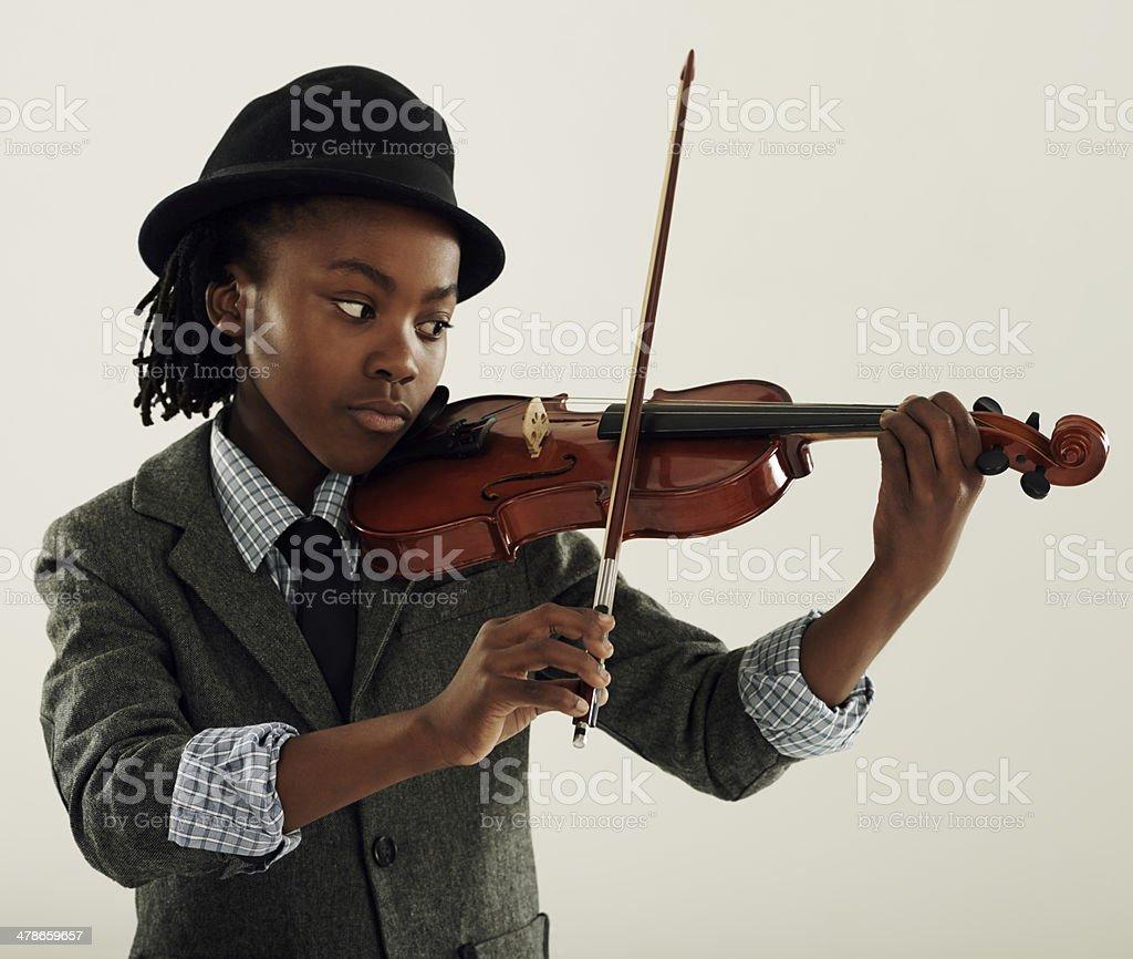 Violin virtuoso stock photo