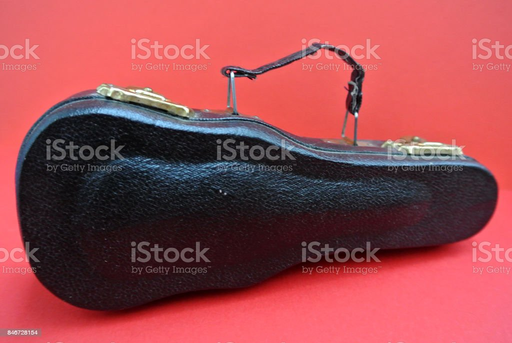 violin with carrying case stock photo