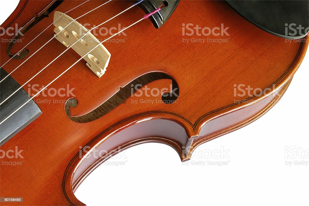 Violin with clipping path royalty-free stock photo