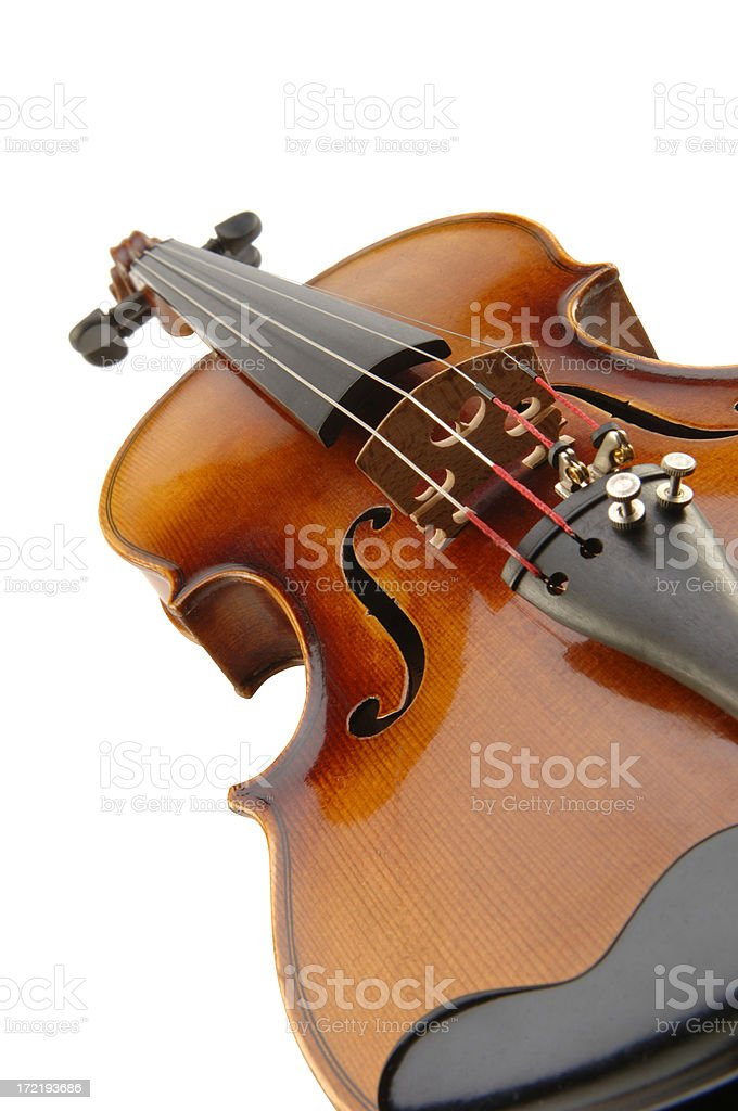 Violin with Path royalty-free stock photo