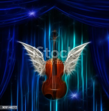 istock Violin with wings 909146272