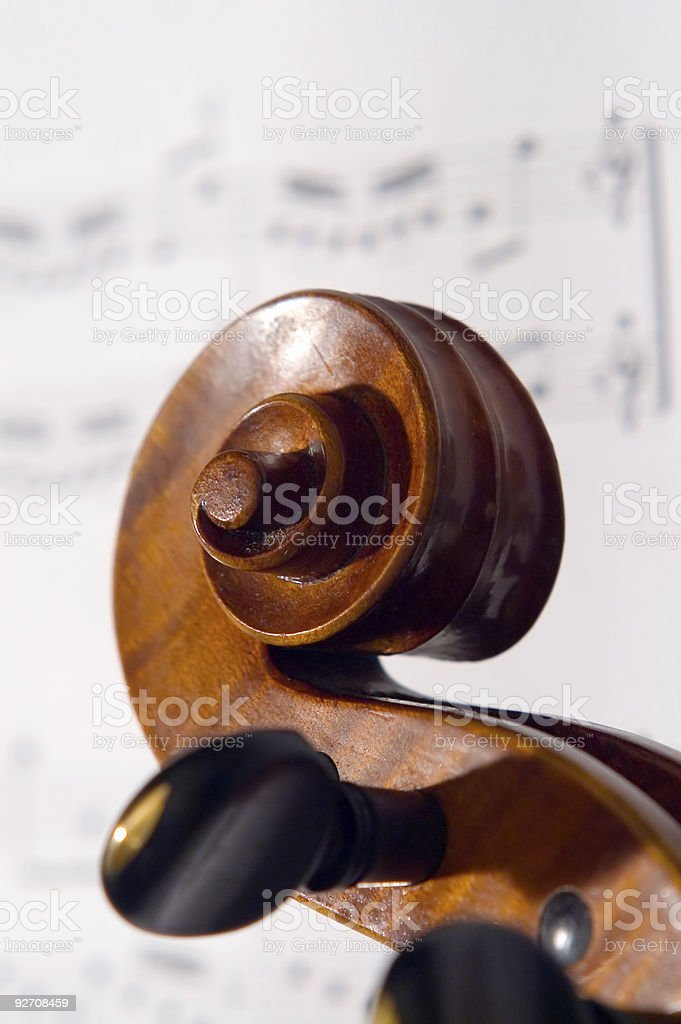 Violine head royalty-free stock photo