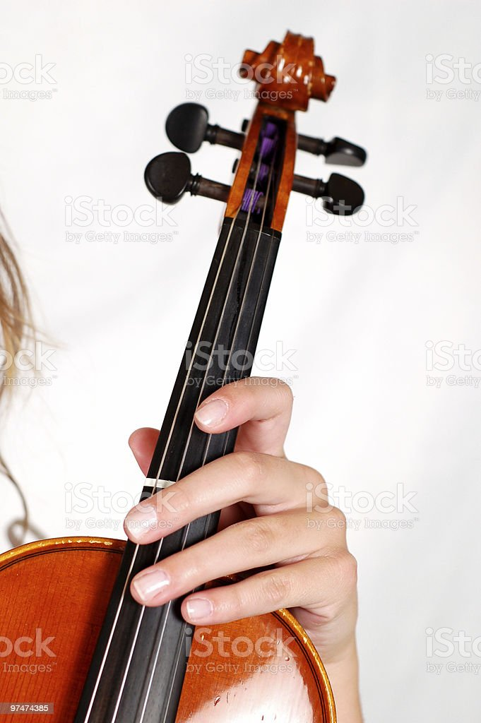 Violinist in White royalty-free stock photo