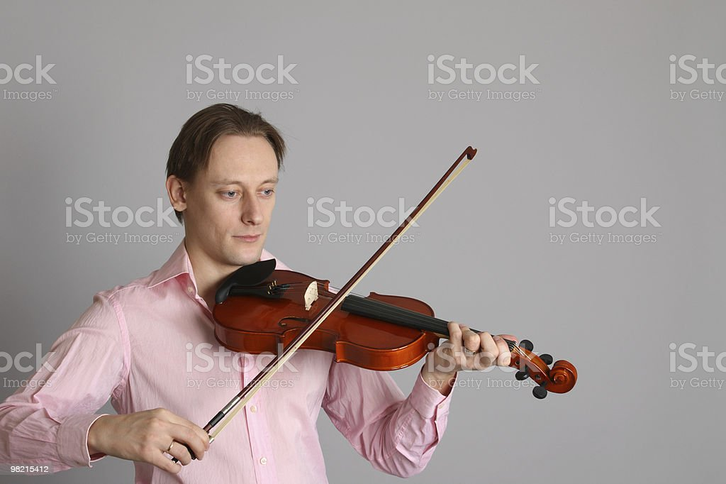 Violinista foto stock royalty-free