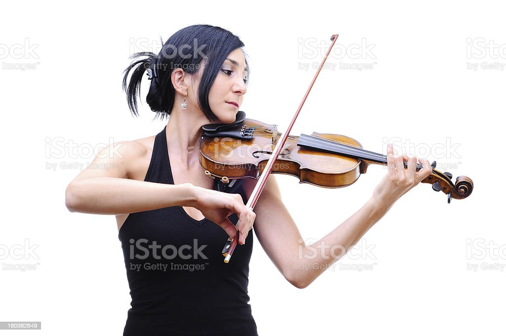 Violinist Playing Her Violin royalty-free stock photo