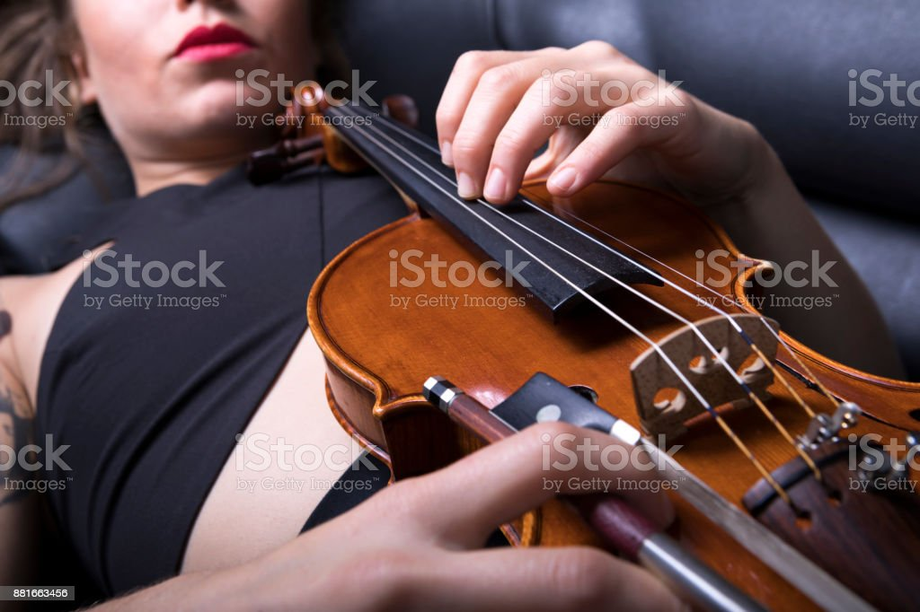 Violinist Woman stock photo