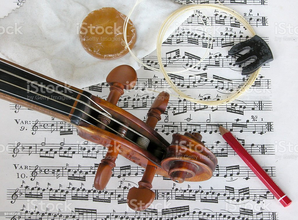 Violinist's toolkit stock photo