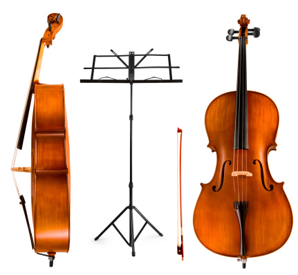 Violoncello and Music Stand