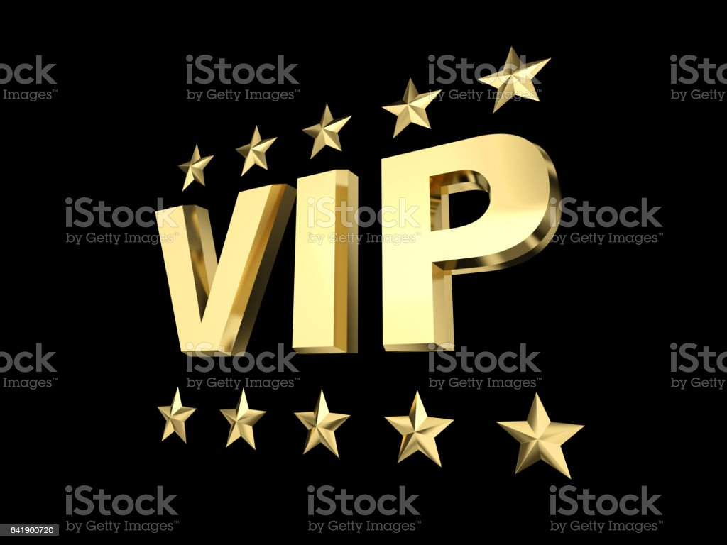 vip and golden star stock photo