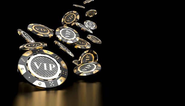 vip guld kasinomarker - black jack bildbanksfoton och bilder