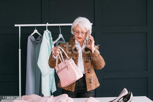 1133515238 istock photo vip shopping fashion showroom senior business lady 1135057767