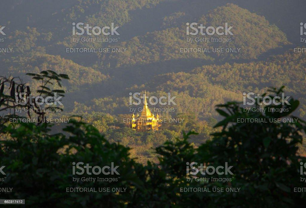 Vipassana temple, Luang Prabang, Laos stock photo