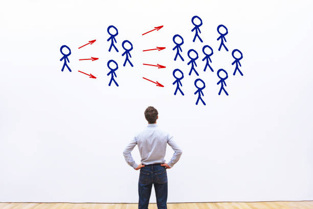 virale inhoud, beïnvloeder marketingconcept. - smeren stockfoto's en -beelden