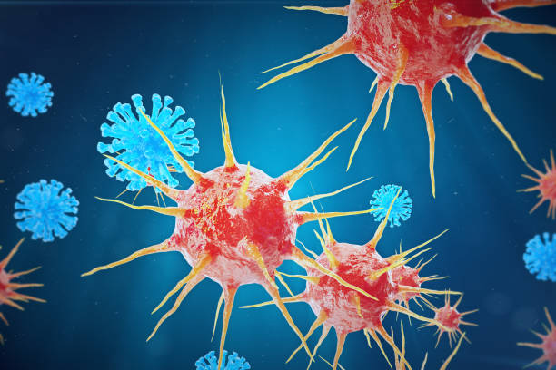 Viral hepatitis infection causing chronic liver disease, Hepatitis viruses, 3d illustration stock photo