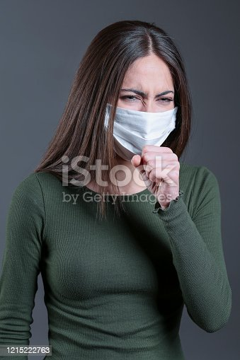 475709137 istock photo Viral infection concept. Floating virus. 1215222763