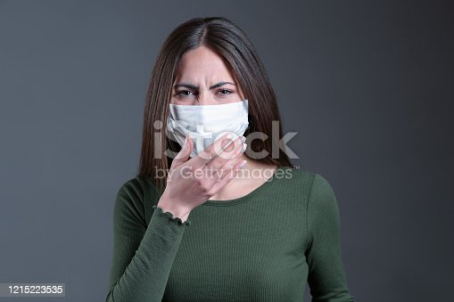 475709137 istock photo Viral infection concept. Floating virus. 1215223535