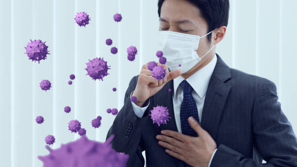 Viral infection concept. Infectious disease. Flu. stock photo