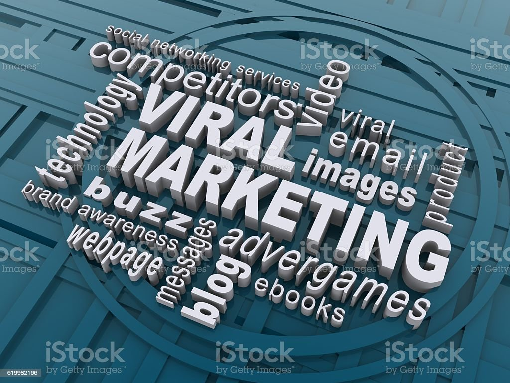 Viral marketing stock photo