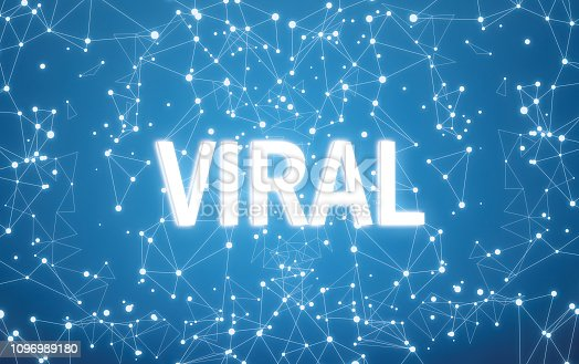 1125093513 istock photo Viral on digital interface and blue network background 1096989180